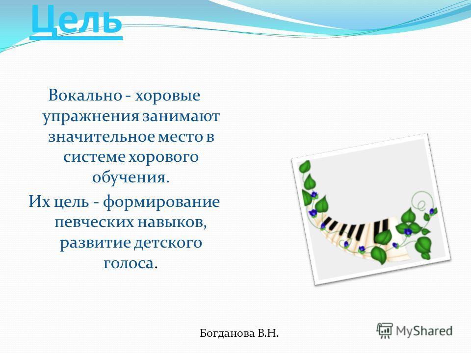 Богданова В.Н. - наиболее доступная школьникам исполнительная деятельность. Правильное певческое развитие с учетом возрастных особенностей и закономерностей становления голоса способствуют развитию здорового голосового аппарата.