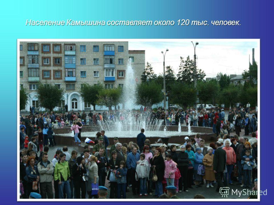 Население Камышина составляет около 120 тыс. человек.