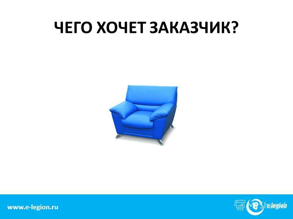 www.e-legion.com ЧЕГО ХОЧЕТ ЗАКАЗЧИК? www.e-legion.ru