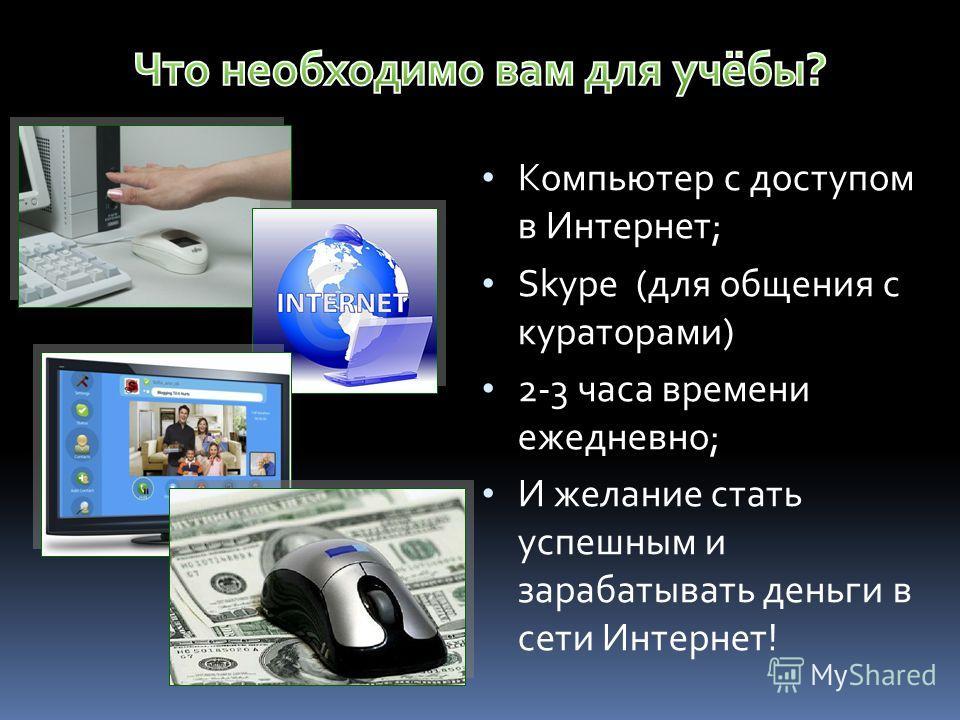 Окончить Школу «Успех в Internet PRO100» и применить знания на практике!