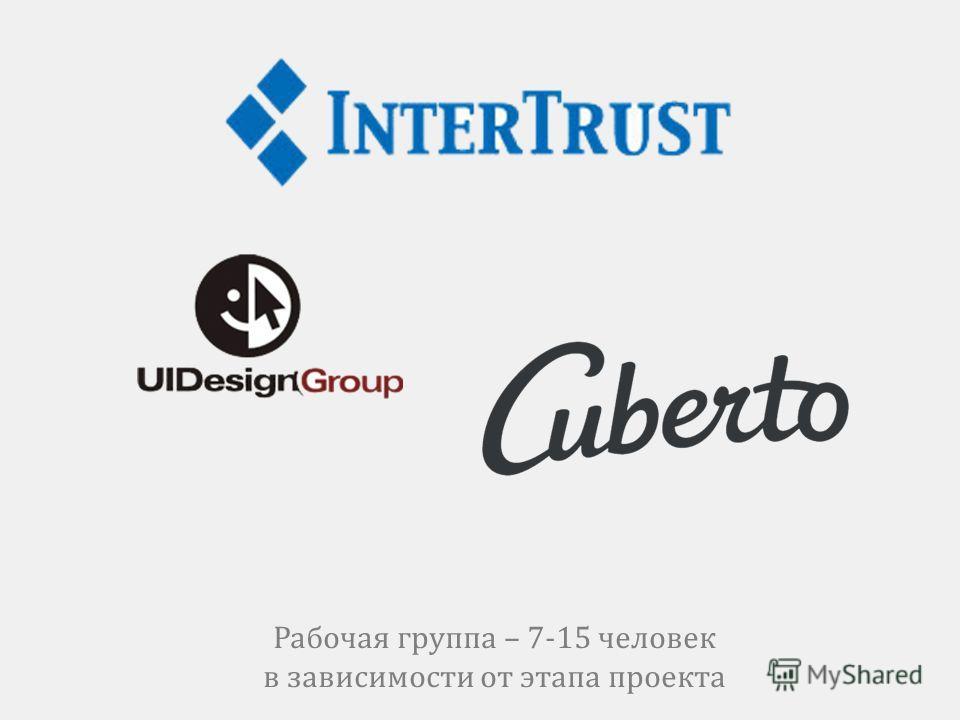 Рабочая группа – 7-15 человек в зависимости от этапа проекта