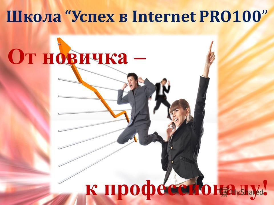 Школа Успех в Internet PRO100 Безвершенко Ольга E-mail: olkafox79@gmail.com Skype: olkagoldline