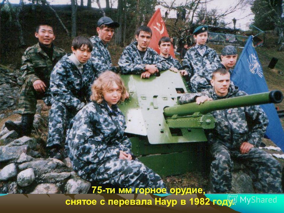 75-ти мм горное орудие, снятое с перевала Наур в 1982 году.