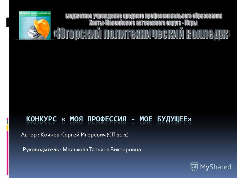 Автор : Кочнев Сергей Игоревич (СП 11-1) Руководитель : Малькова Татьяна Викторовна