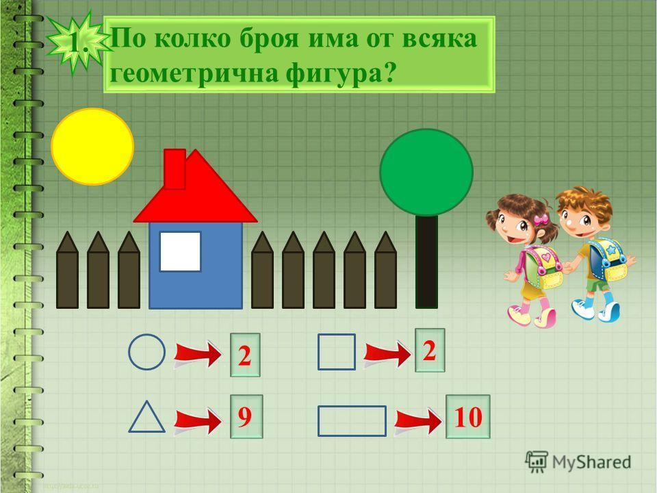 По колко броя има от всяка геометрична фигура? 1. 2 9 2 10