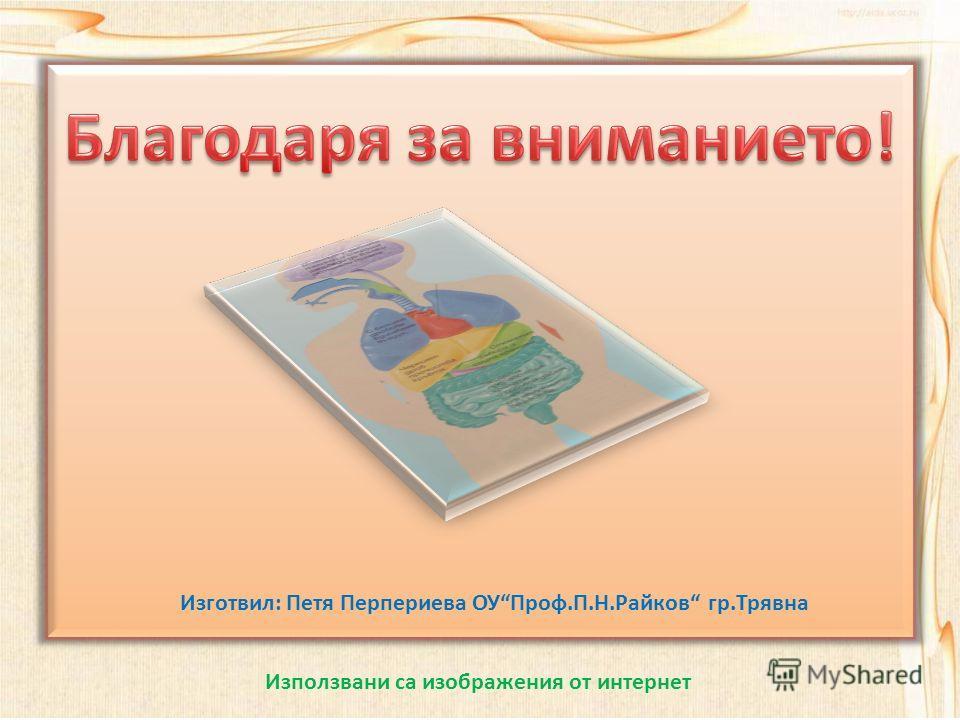 Изготвил: Петя Перпериева ОУПроф.П.Н.Райков гр.Трявна Използвани са изображения от интернет