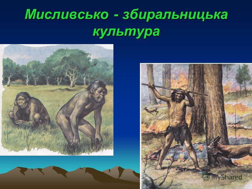 Мисливсько - збиральницька культура