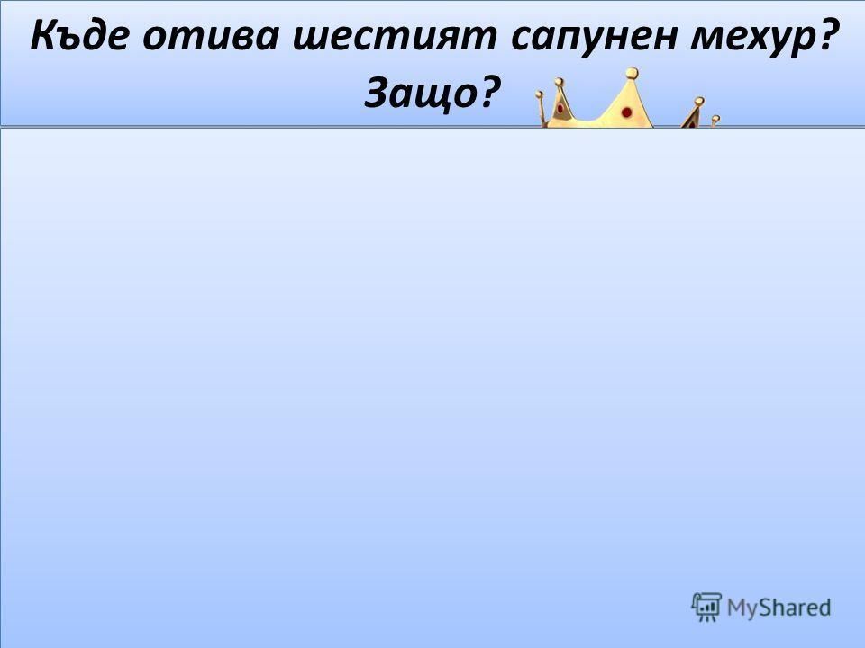Къде отива шестият сапунен мехур? Защо? – Аз пък ще отида в морето и ще стана цар на подводното царство.