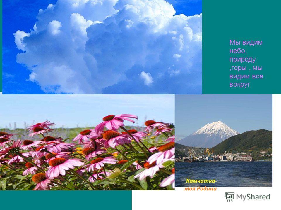 Мы видим небо, природу,горы, мы видим все вокруг