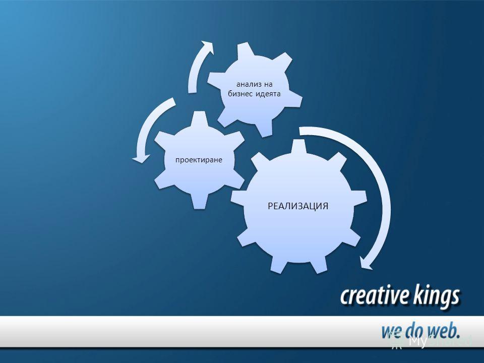 РЕАЛИЗАЦИЯ проектиране анализ на бизнес идеята