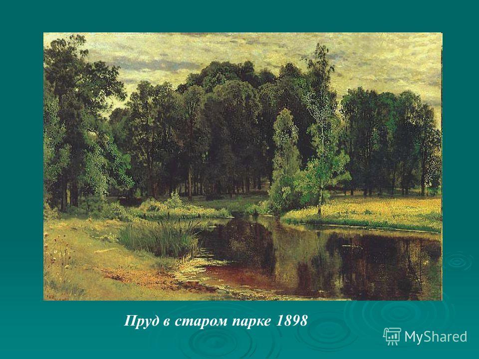 Пруд в старом парке 1898