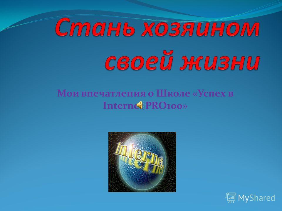 Мои впечатления о Школе «Успех в Internet PRO100»