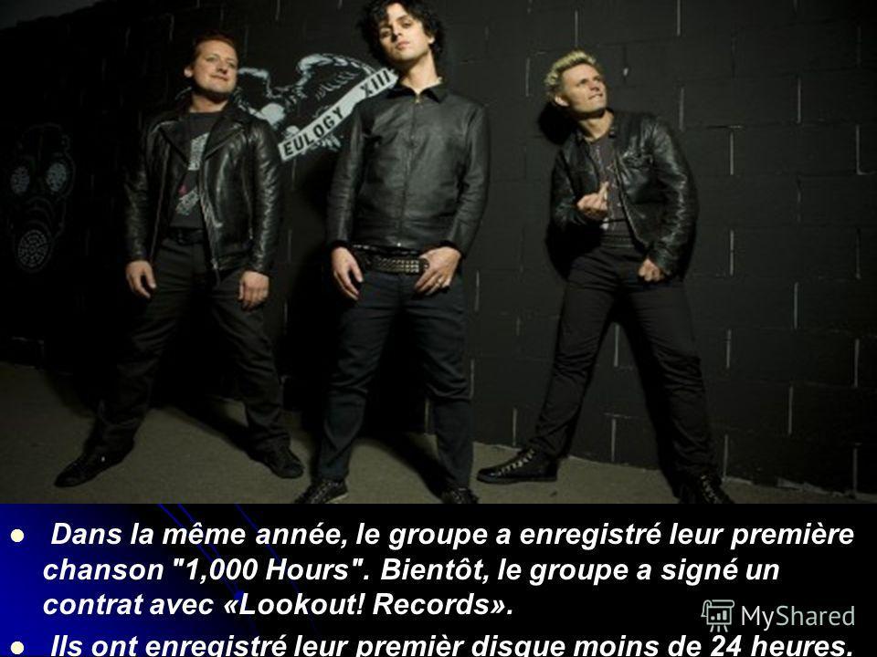Dans la même année, le groupe a enregistré leur première chanson 1,000 Hours. Bientôt, le groupe a signé un contrat avec «Lookout! Records». Ils ont enregistré leur premièr disque moins de 24 heures.