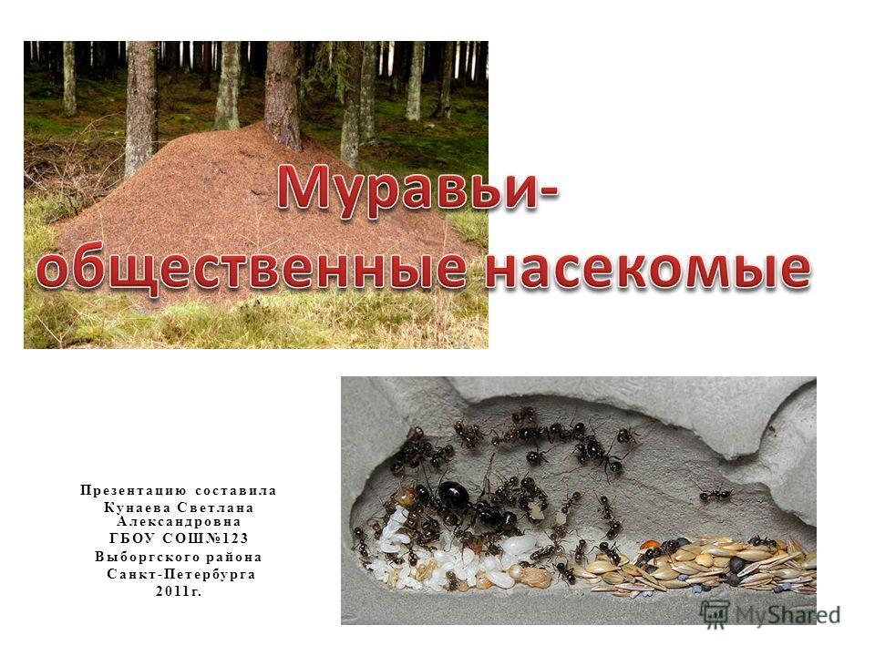 Презентацию составила Кунаева Светлана Александровна ГБОУ СОШ123 Выборгского района Санкт-Петербурга 2011г.