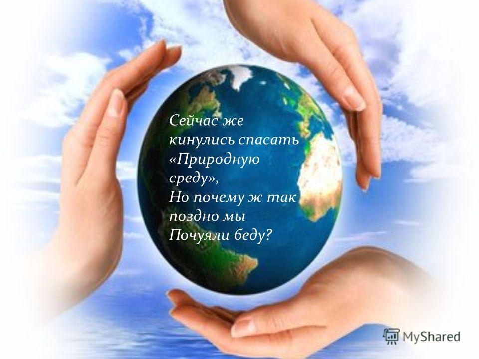 А Землю эту, не щадя. Терзал за веком век, И брал все только для себя «Разумный» человек.