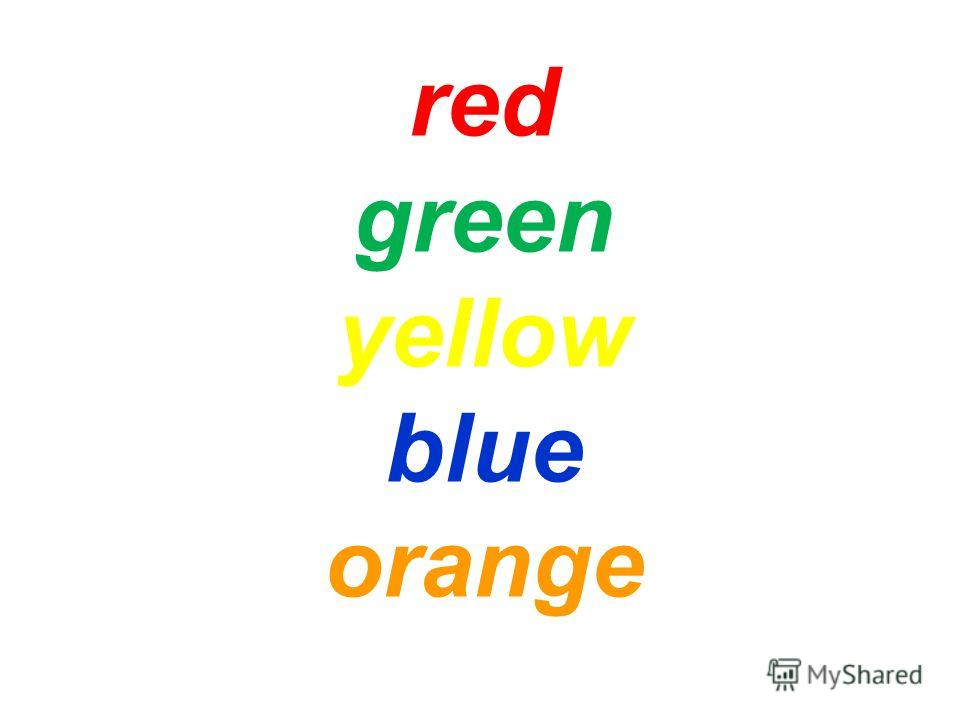 red green yellow blue orange