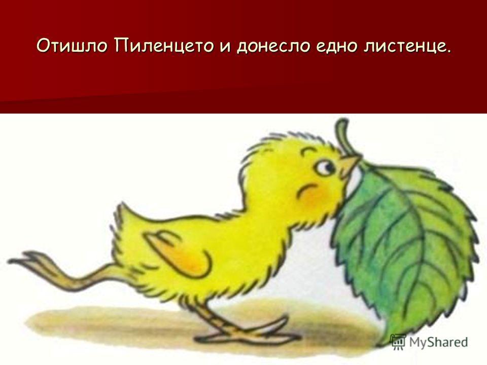 Отишло Пиленцето и донесло едно листенце.