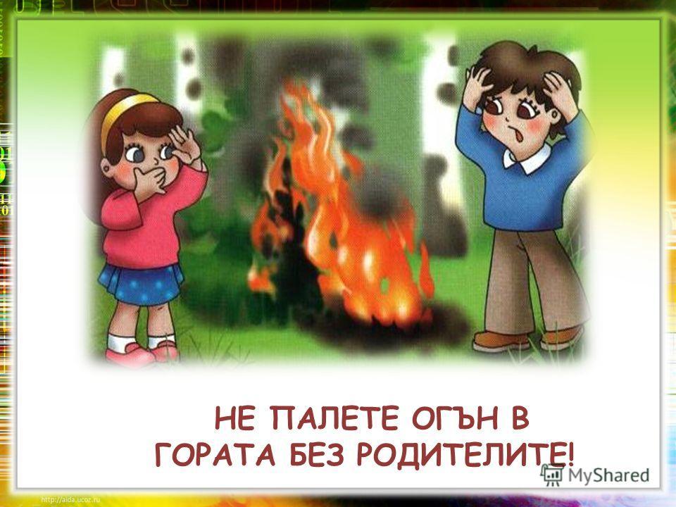 НЕ ПАЛЕТЕ ОГЪН В ГОРАТА БЕЗ РОДИТЕЛИТЕ!