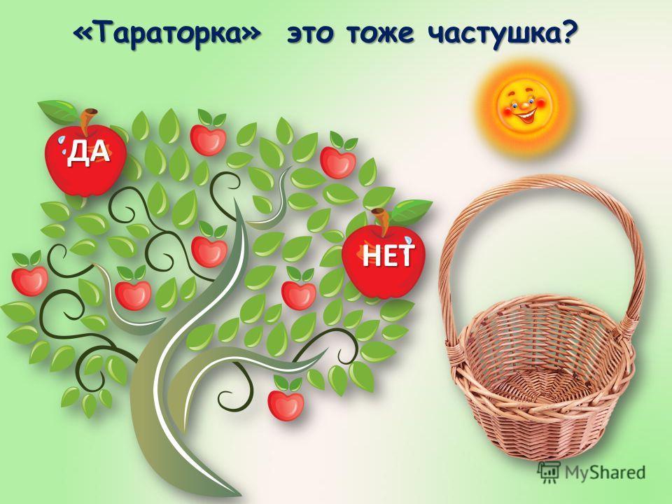 Отвечая на вопросы «да» или «нет» собери яблоки с дерева в корзину. Чтобы начать игру, нажми на «солнышко».