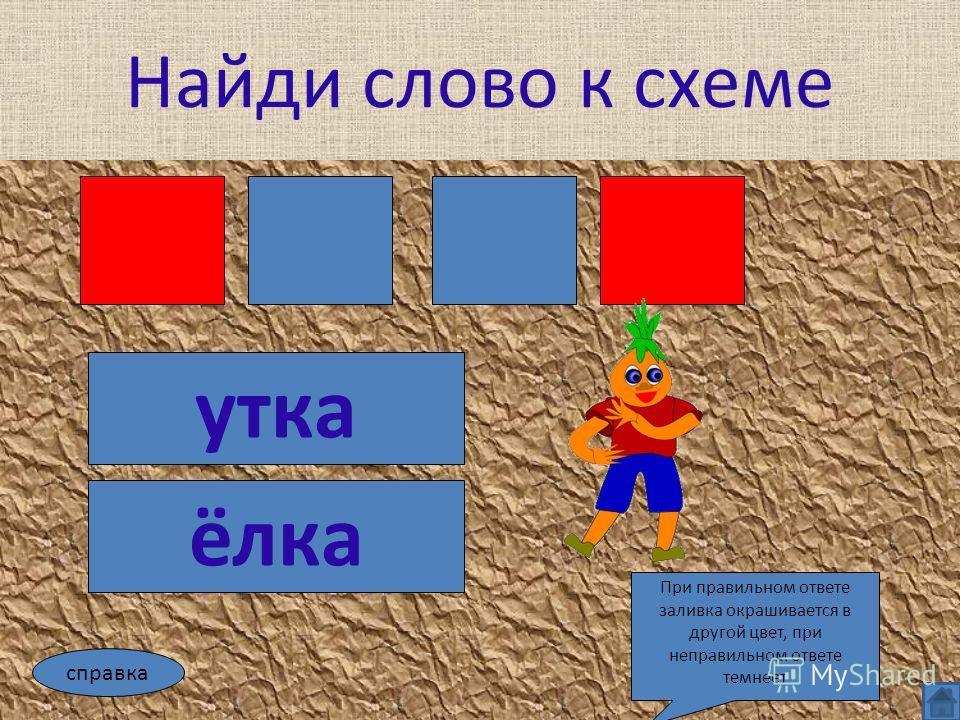 ёлка утка справка При правильном ответе заливка окрашивается в другой цвет, при неправильном ответе темнеет