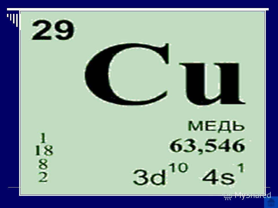 Название какого химического элемента произошло от названия острова Кипр?
