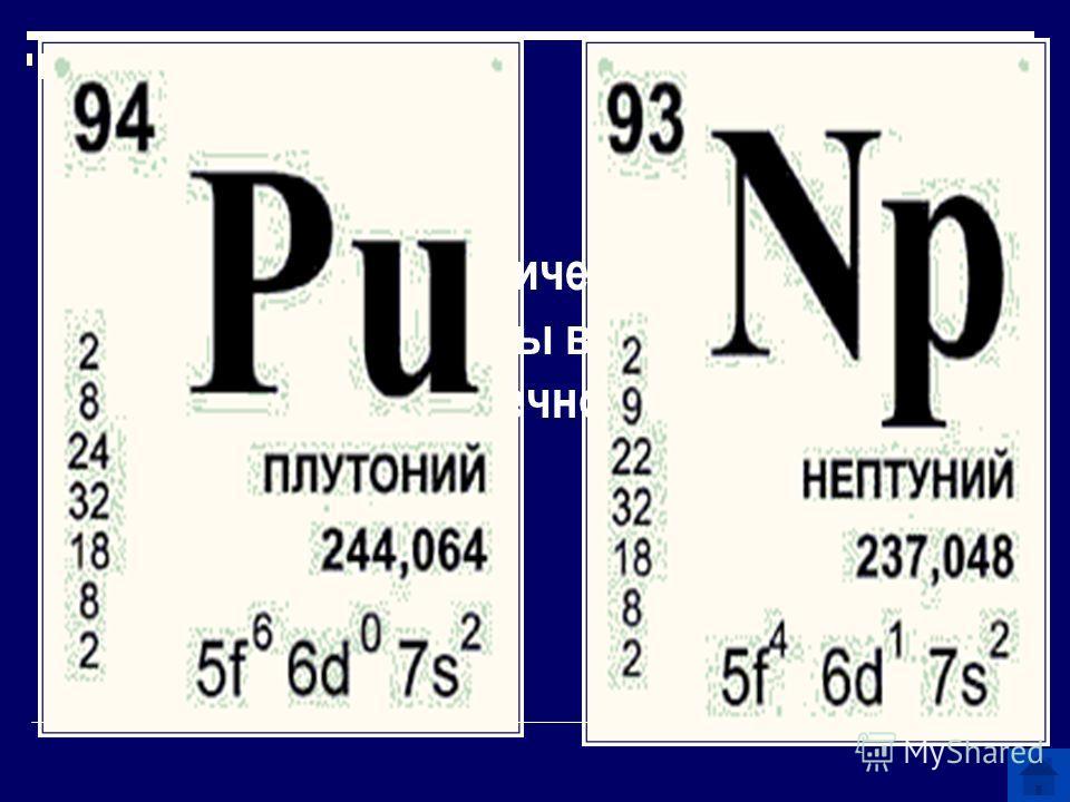 Какие химические элементы названы в честь планет Солнечной системы?