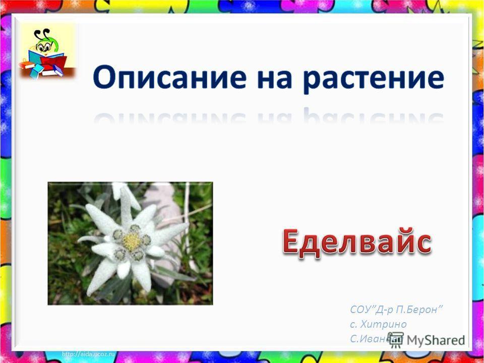 СОУД-р П.Берон с. Хитрино С.Иванова