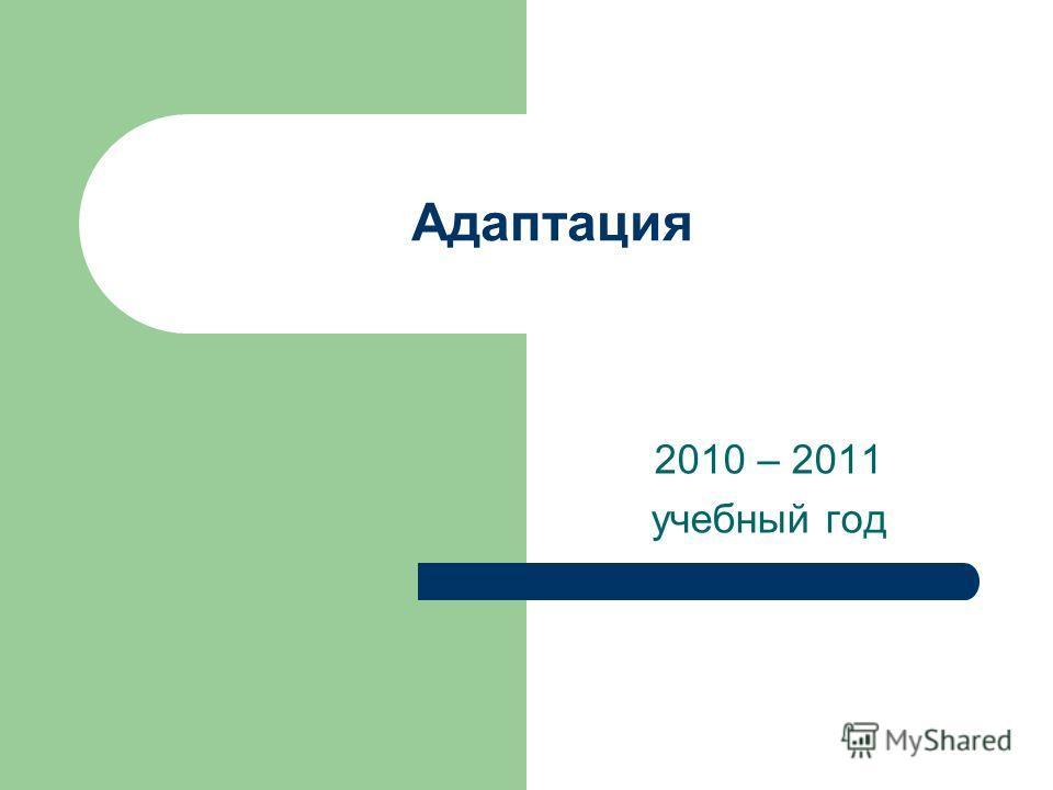 Адаптация 2010 – 2011 учебный год