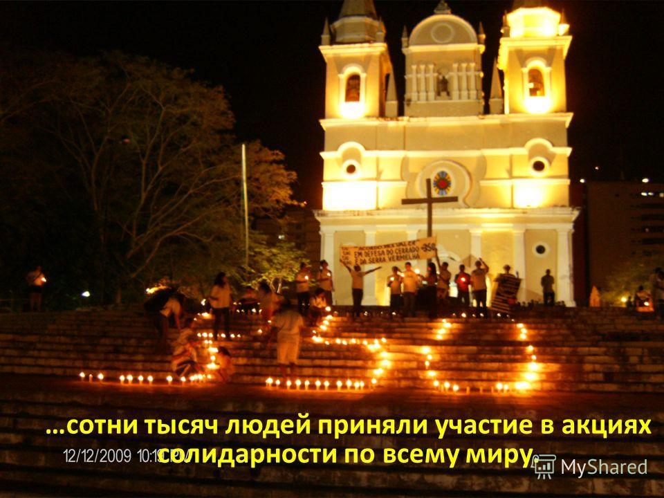 …сотни тысяч людей приняли участие в акциях солидарности по всему миру.