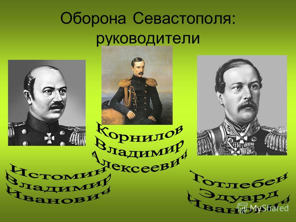Оборона Севастополя: руководители