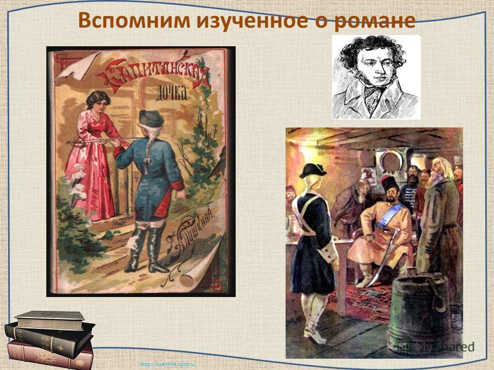 http://ku4mina.ucoz.ru/ Вспомним изученное о романе