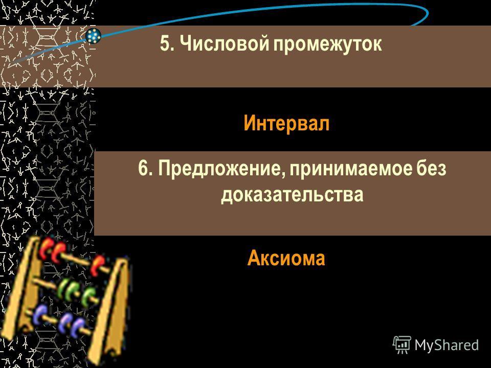 3. Упорядоченная пара чисел, задающая положение точки на плоскости. Координаты 4.Наука, возникшая в глубокой древности в Вавилоне и Египте, а учащиеся России начинают её изучать с 7 класса. 5. Линия на плоскости, задаваемая уравнением Y=кх+b Алгебра