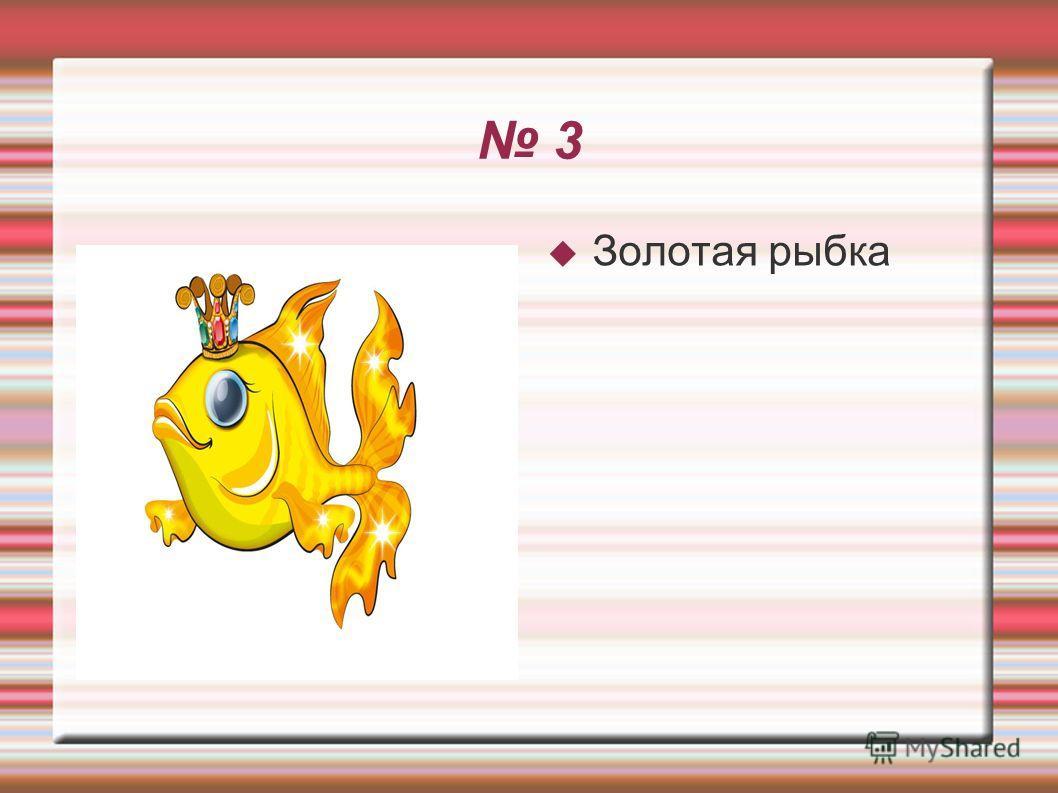 3 Золотая рыбка
