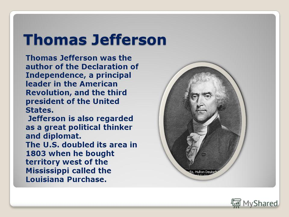 a history of thomas jeffersons political career in the united states