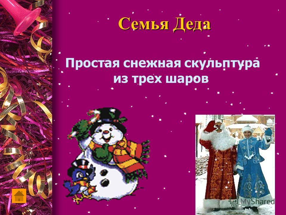 Семья Деда Простая снежная скульптура из трех шаров