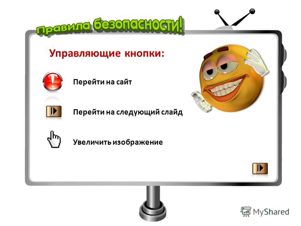 Управляющие кнопки: Перейти на сайт Перейти на следующий слайд Увеличить изображение
