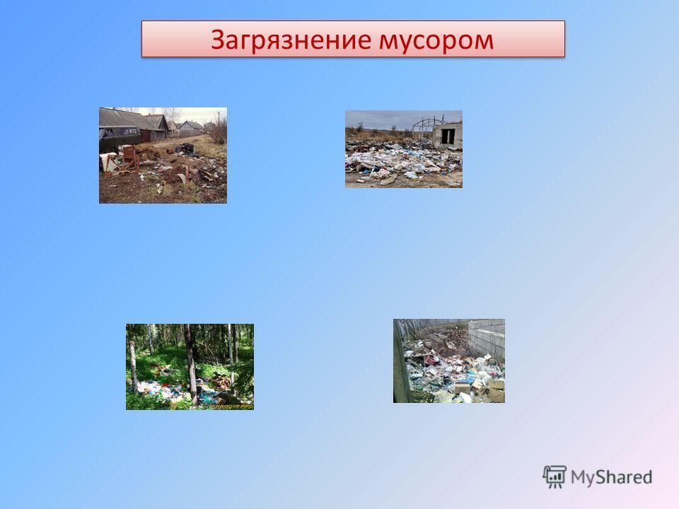 Загрязнение мусором