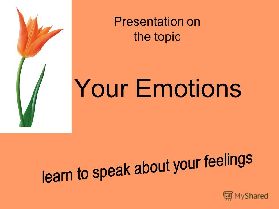 Your Emotions Presentation on the topic