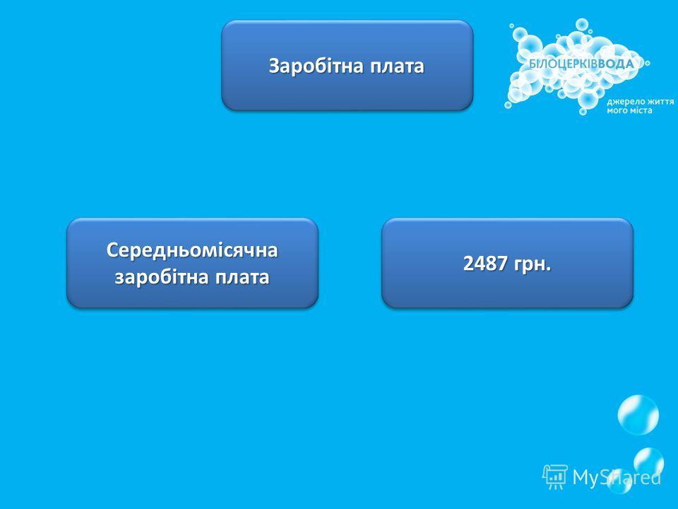 Заробітна плата Середньомісячна заробітна плата 2487 грн.