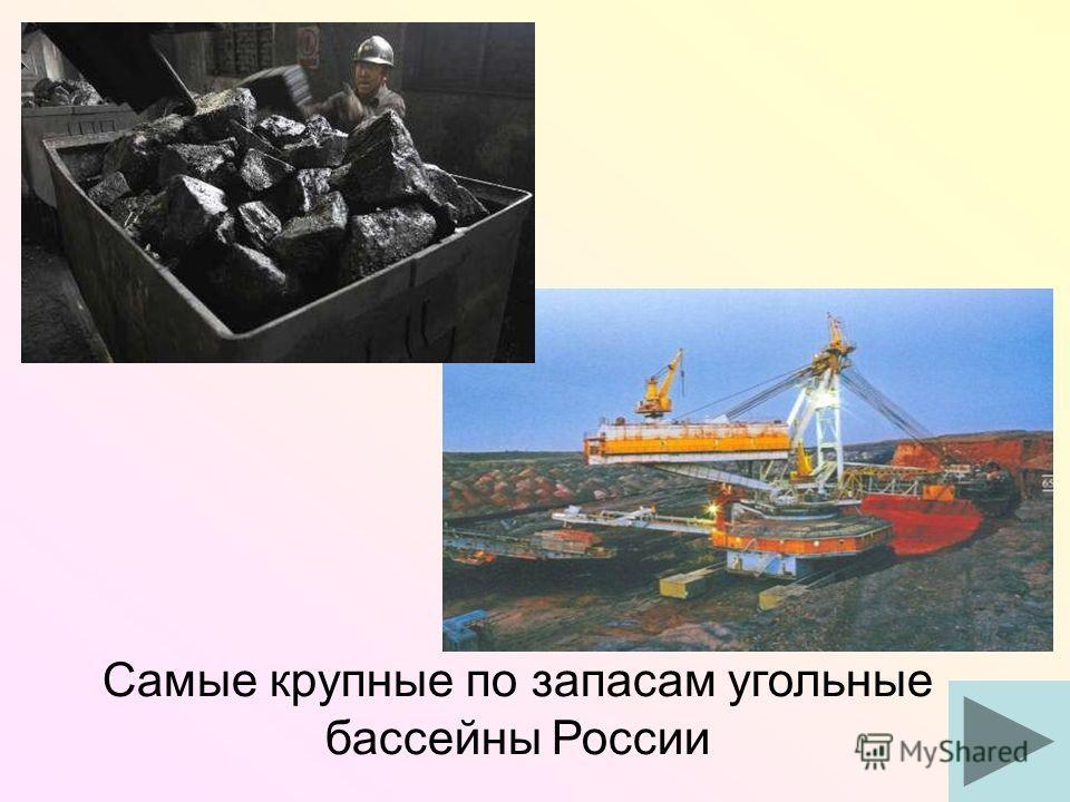 Самые крупные по запасам угольные бассейны России