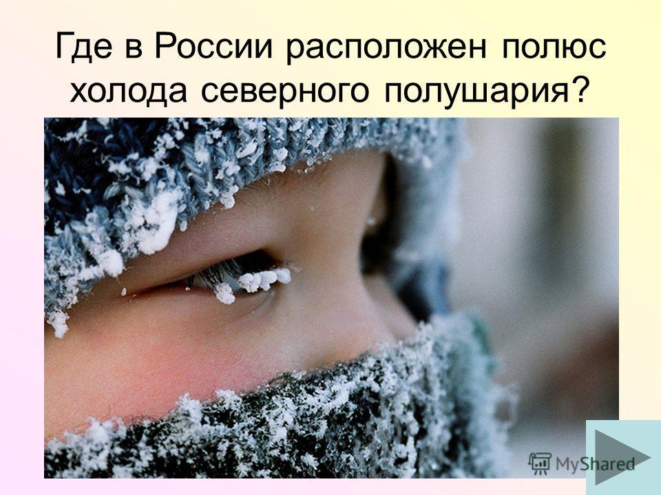 Где в России расположен полюс холода северного полушария?
