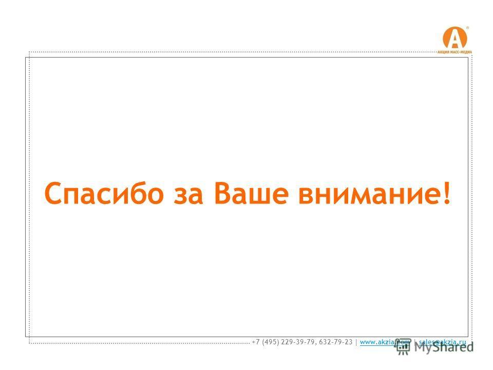 Спасибо за Ваше внимание! +7 (495) 229-39-79, 632-79-23 | www.akzia.com | sales@akzia.ruwww.akzia.comsales@akzia.ru