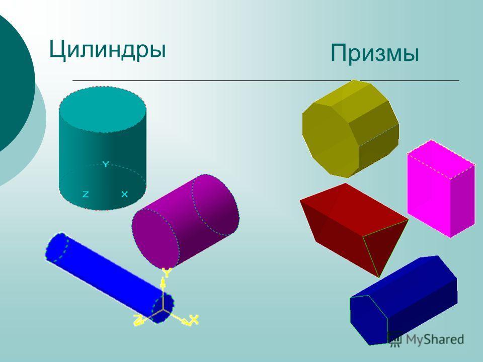 Цилиндры Призмы