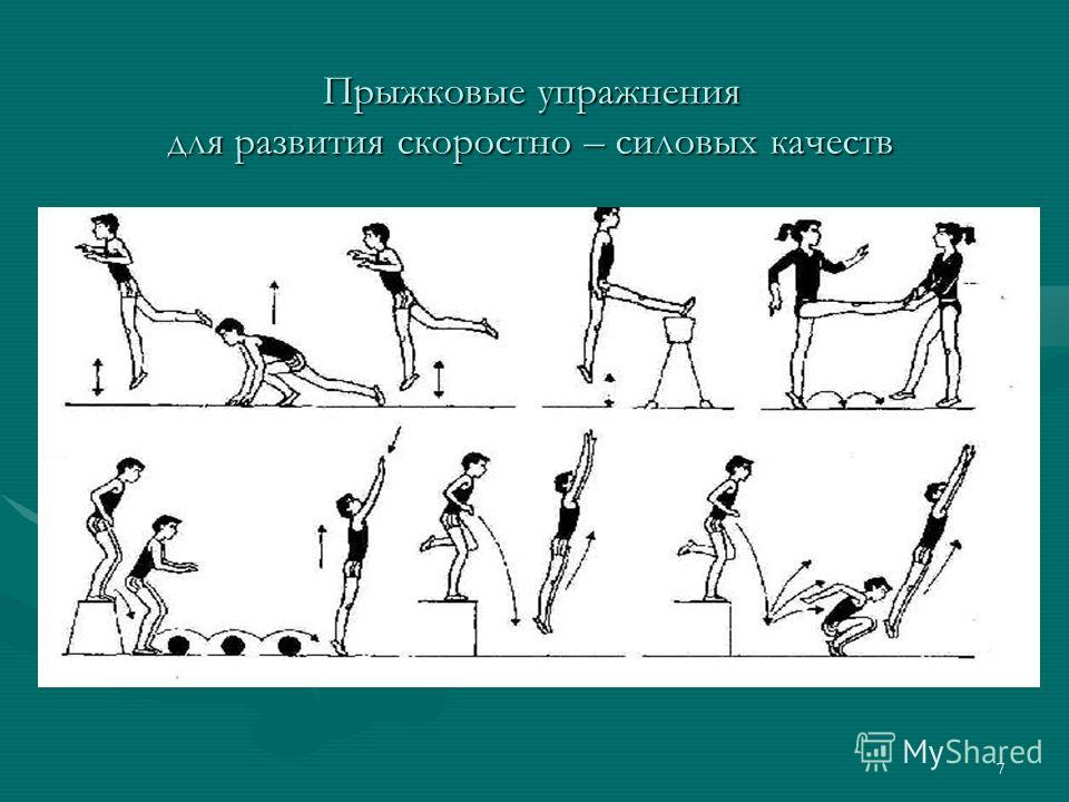 7 Прыжковые упражнения для развития скоростно – силовых качеств