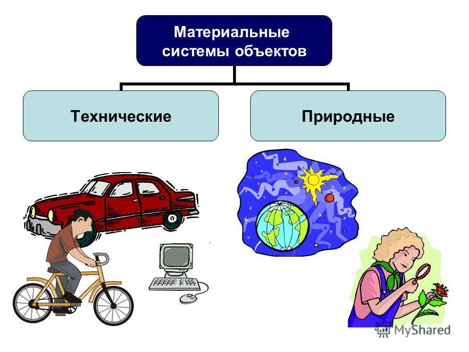 Материальные системы объектов ТехническиеПриродные