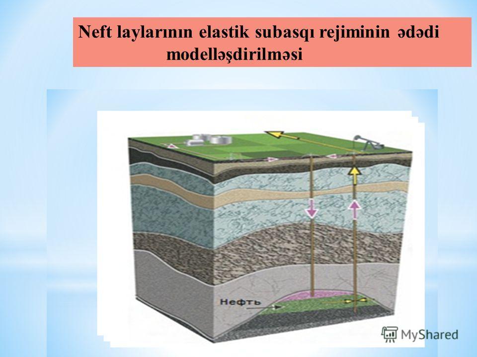 Neft laylarının elastik subasqı rejiminin ədədi modelləşdirilməsi