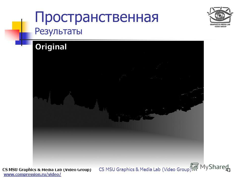 CS MSU Graphics & Media Lab (Video Group) www.compression.ru/video/ Only for Maxus Пространственная Результаты 43 CS MSU Graphics & Media Lab (Video Group)