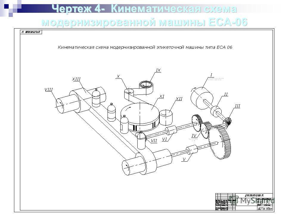 Чертеж4- Кинематическая схема модернизированной машины ЕСА-06 Чертеж 4- Кинематическая схема модернизированной машины ЕСА-06