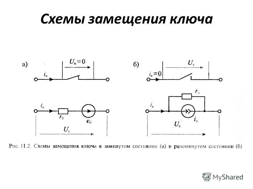 Схемы замещения ключа