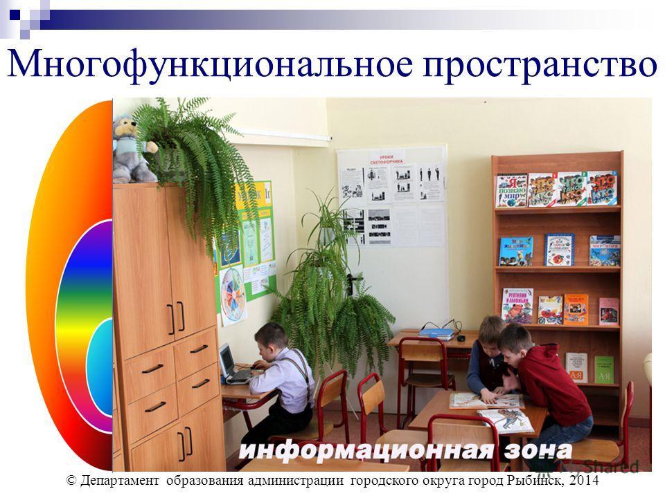 Многофункциональное пространство © Департамент образования администрации городского округа город Рыбинск, 2014